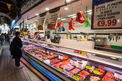 Meat counter at Cork city English market Stock Images