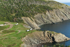 Meat Cove camp ground, Cape Breton Island Royalty Free Stock Photo