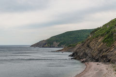 Meat Covecape, breton, nova, scotia, ocean, coast, shore, green, travel, view, cabot. Meat Cove (Cape Breton, Nova Scotia, Canada stock photo