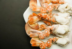 Meat of crabs legs Royalty Free Stock Image