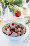 Meat with cranberries Stock Image