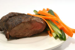 Meat with cucumber and carrot. Meat piece with cucumber and carrot Stock Images