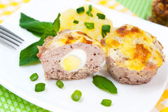 Meat cupcakes Stock Images