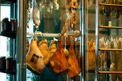 Meat curing in a window Stock Image