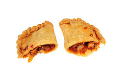 Meat curry puff Royalty Free Stock Photo