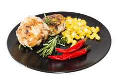 Meat cutlet. Beef meat cutlet wery tasty stock photo