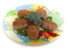 Meat cutlets Stock Images