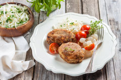 Meat cutlets with cheese. Zrazy cheese Stock Photo