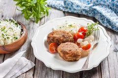 Meat cutlets with cheese. Zrazy cheese Royalty Free Stock Image