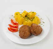 Meat cutlets Stock Photos
