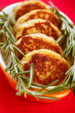 Meat cutlets with rosemary Stock Image