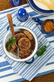 Meat Cutlets or Sausage Patties Royalty Free Stock Photography