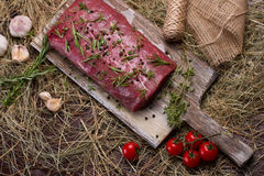 Meat on a cutting board. Stock Images