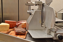 Meat cutting machine Royalty Free Stock Photos