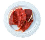 Meat damp on plate Stock Photography