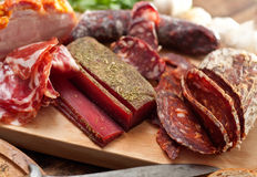 Meat delicacies Stock Photos