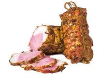 Meat delicacy. Smoked pork bacon, meat delicacy stock images
