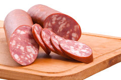Meat delicatessen on the board Royalty Free Stock Image