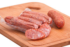 Meat delicatessen on the board Royalty Free Stock Photos