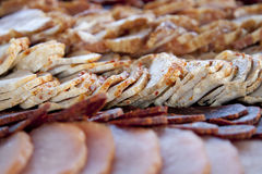 Meat delicatessen plate royalty free stock photos