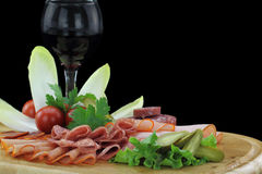 Meat delicatessen plate Stock Photo