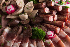 Meat Delicatessen Plate Royalty Free Stock Photo