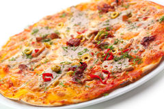 Meat Delicious Pizza Stock Images