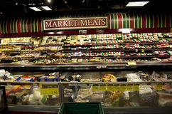 Meat Department in supermarket Stock Image