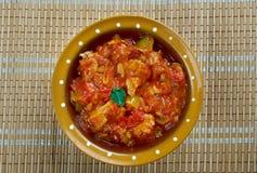 Meat or  Dhansak Stock Photo