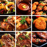 Meat Dishes Stock Photography