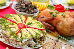 Meat dishes Stock Image