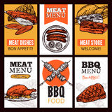 Meat Dishes Vertical Banners royalty free illustration