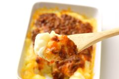 Meat Doria. Rice gratin; one of Japanese cuisine Royalty Free Stock Photos