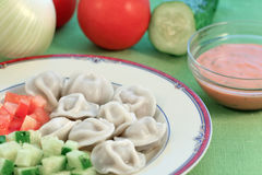 Meat dumplings Stock Photos