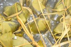 Meat Dumplings In Boiling Water Royalty Free Stock Photo