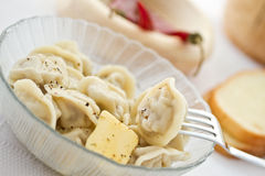 Meat dumplings on a plate Stock Photos