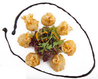 Meat dumplings on a plate Stock Images