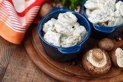 Meat Dumplings - russian boiled pelmeni in plate Royalty Free Stock Photos