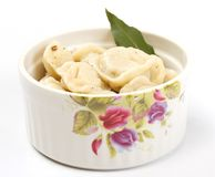 Meat Dumplings - russian pelmeni Royalty Free Stock Photography