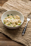 Meat dumplings - russian pelmeni, ravioli with meat on a white plate Royalty Free Stock Photo