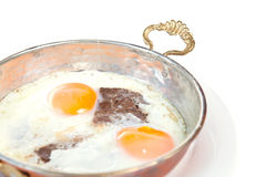 Meat with egg Royalty Free Stock Photos