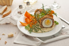 Meat and egg ball Stock Image