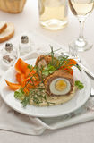 Meat and egg ball Royalty Free Stock Images