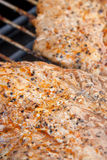 Meat on the electric barbecue Royalty Free Stock Photo