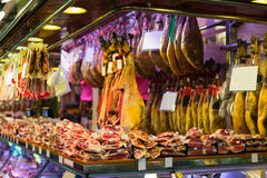 Meat at the european  market Stock Image