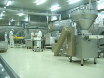 Meat factory Stock Images