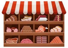 Meat farmer shop Stock Photography