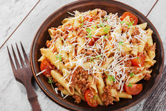 meat finhackad pasta Royaltyfria Foton