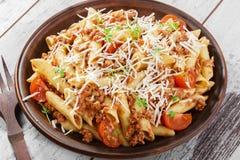 meat finhackad pasta Royaltyfri Foto