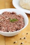 meat finhackat rått Arkivfoton